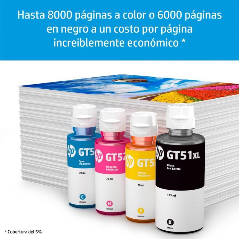 Botellas de Tinta HP GT52 GT51XL